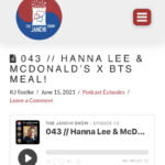 043 // HANNA LEE & MCDONALD'S X BTS MEAL!